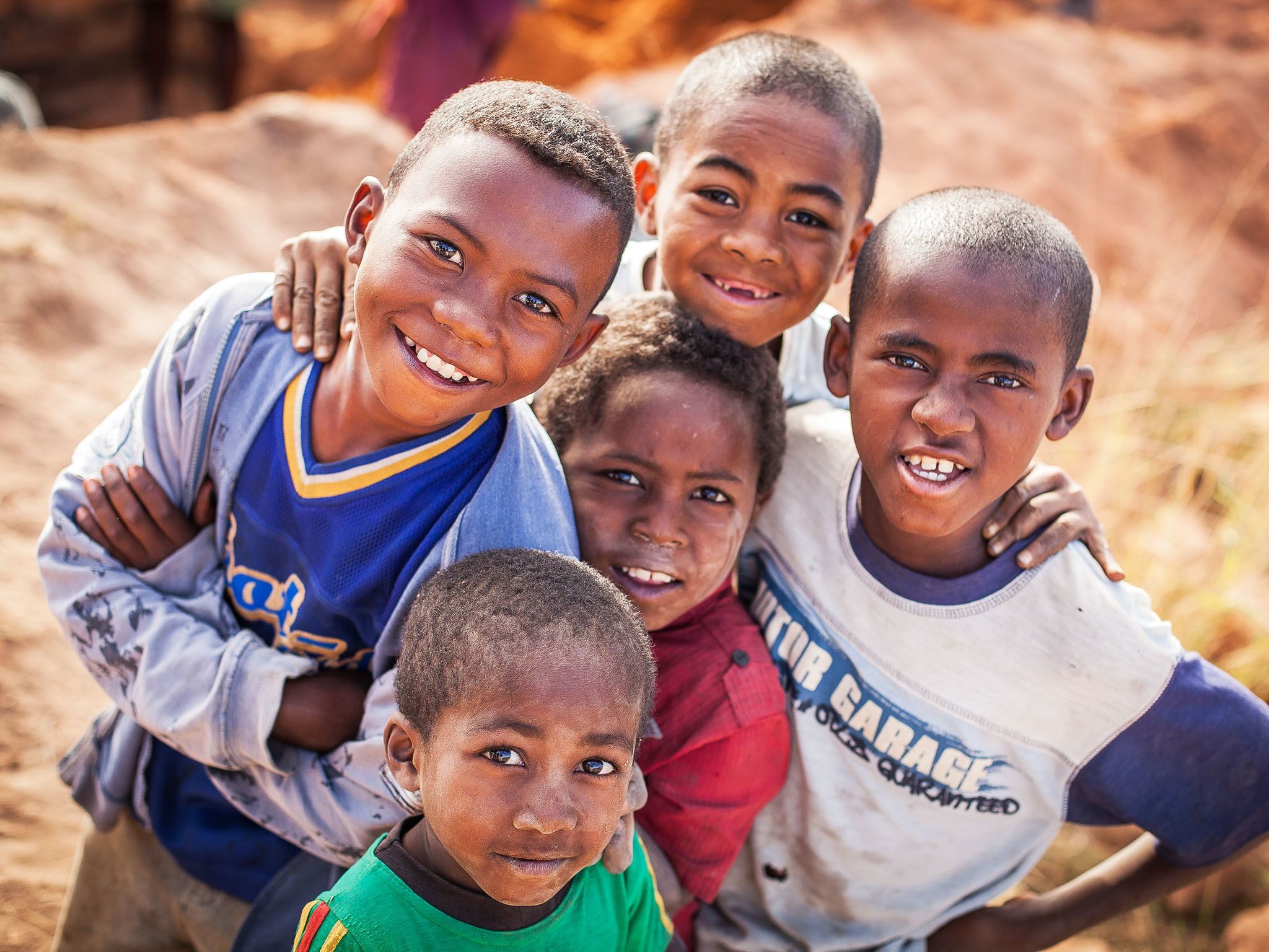 Tulear, Madagascar: Five local boys. This image is from Mine Kings. [Photo of the day - March 2016]