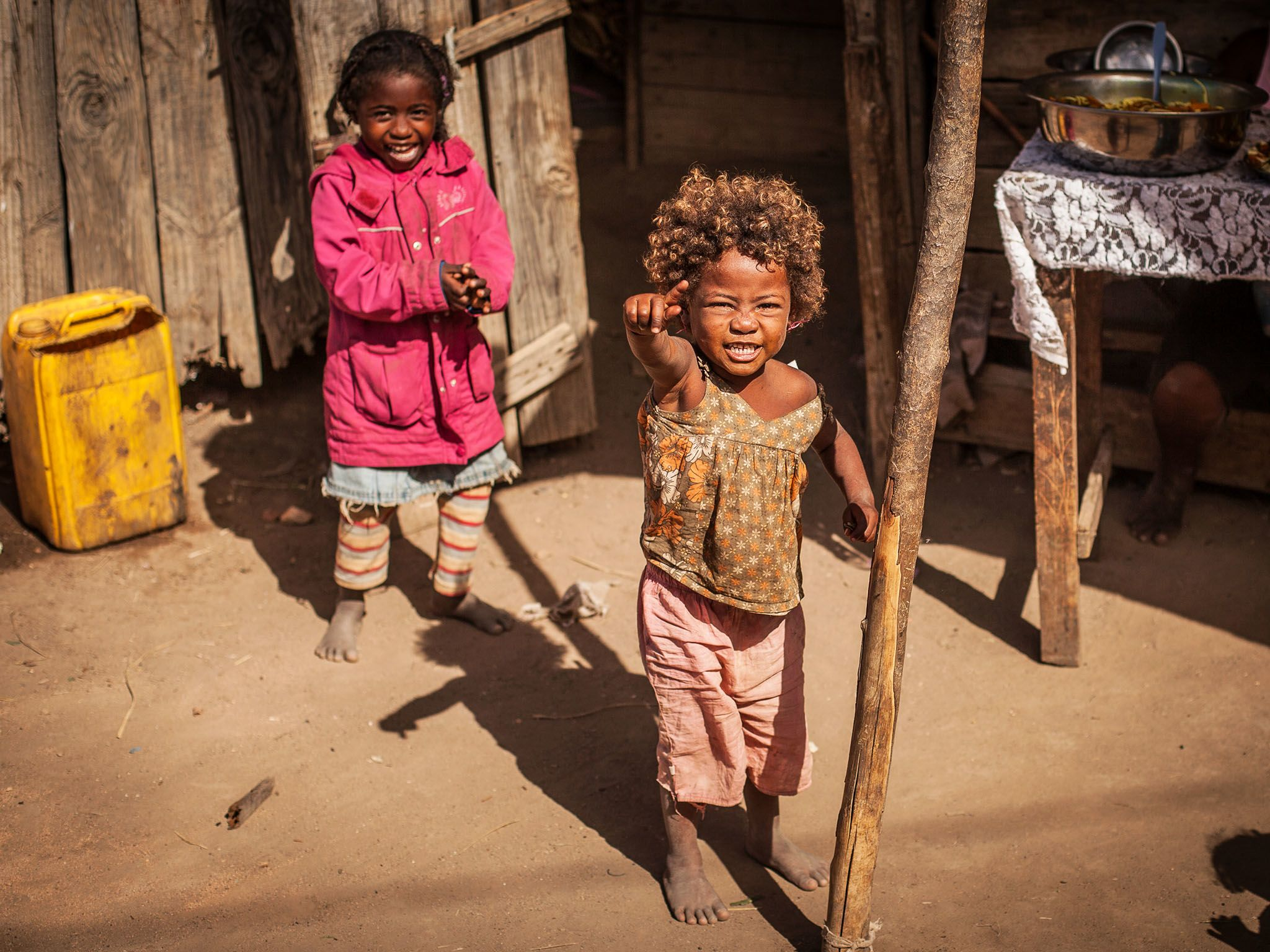 Tulear, Madagascar: Two local girls. This image is from Mine Kings. [Photo of the day - March 2016]