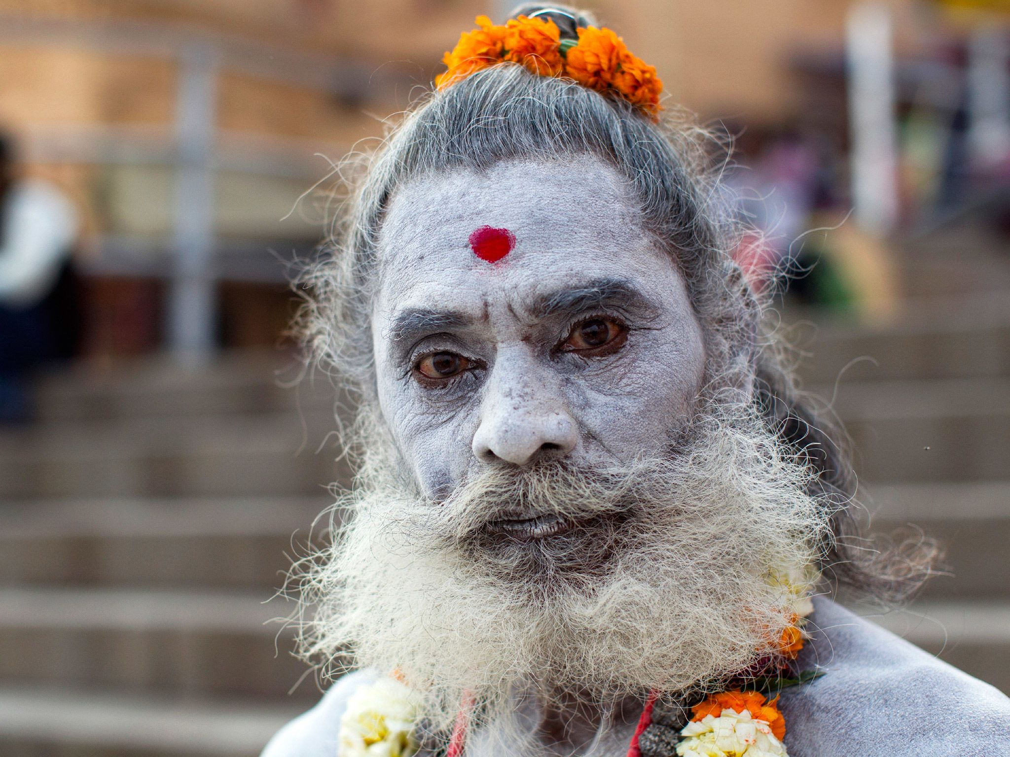 Portrait of a Sadhu in India. This image is from The Story of God with Morgan Freeman. [Photo of the day - 四月 2016]