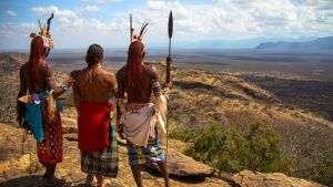 Kenya: Hazen standing with Samburu... [Photo of the day - MAY  6, 2016]