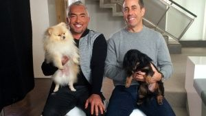 Cesar Millan, left, helps legendary... [Photo of the day - MAY 29, 2016]
