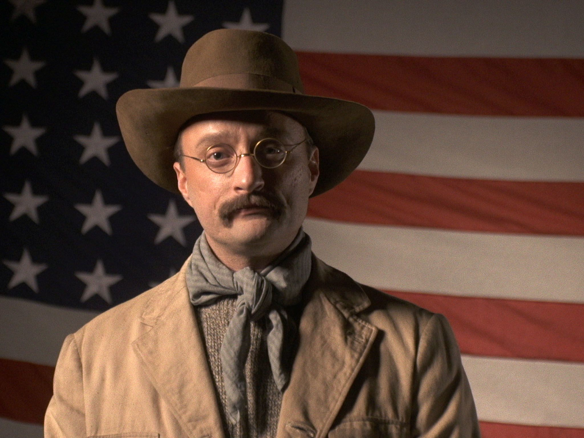 Reenactment: Teddy Roosevelt (played by Jack Elliot) speaks about land conservation. This image... [Photo of the day - سپتامبر 2016]