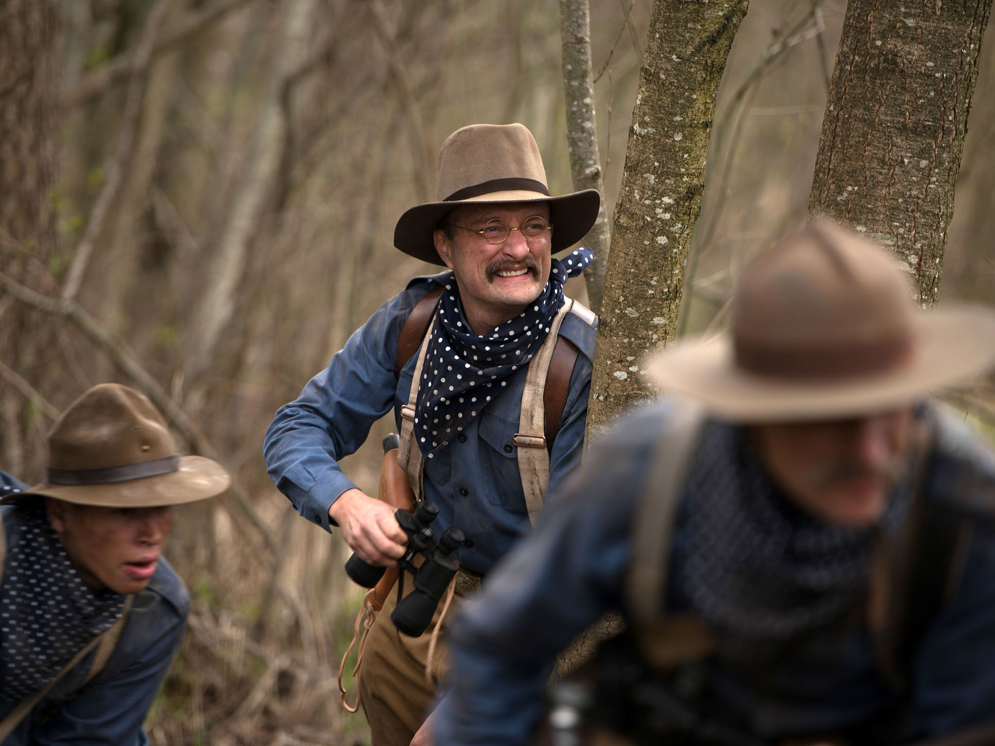 Reenactment- Jack Elliot as Teddy Roosevelt, with two other Rough Riders during The Battle of... [Photo of the day - سپتامبر 2016]