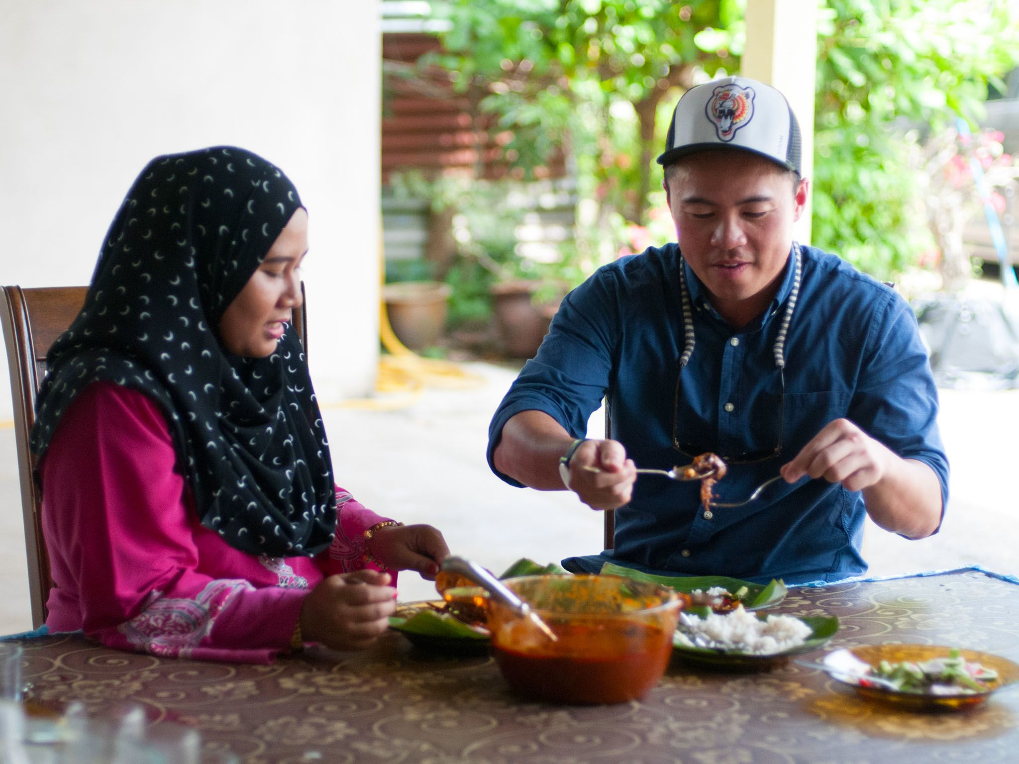 Terengganu, Malaysia: Viet Pham and Jamilah finally sit down to taste the Nasi Dagang they have... [Photo of the day - November 2016]
