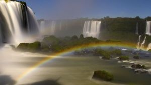 Iguazu Falls with rainbow in the mist. This image is from River in the Sky. Photo of the day -  8 十二月 2016
