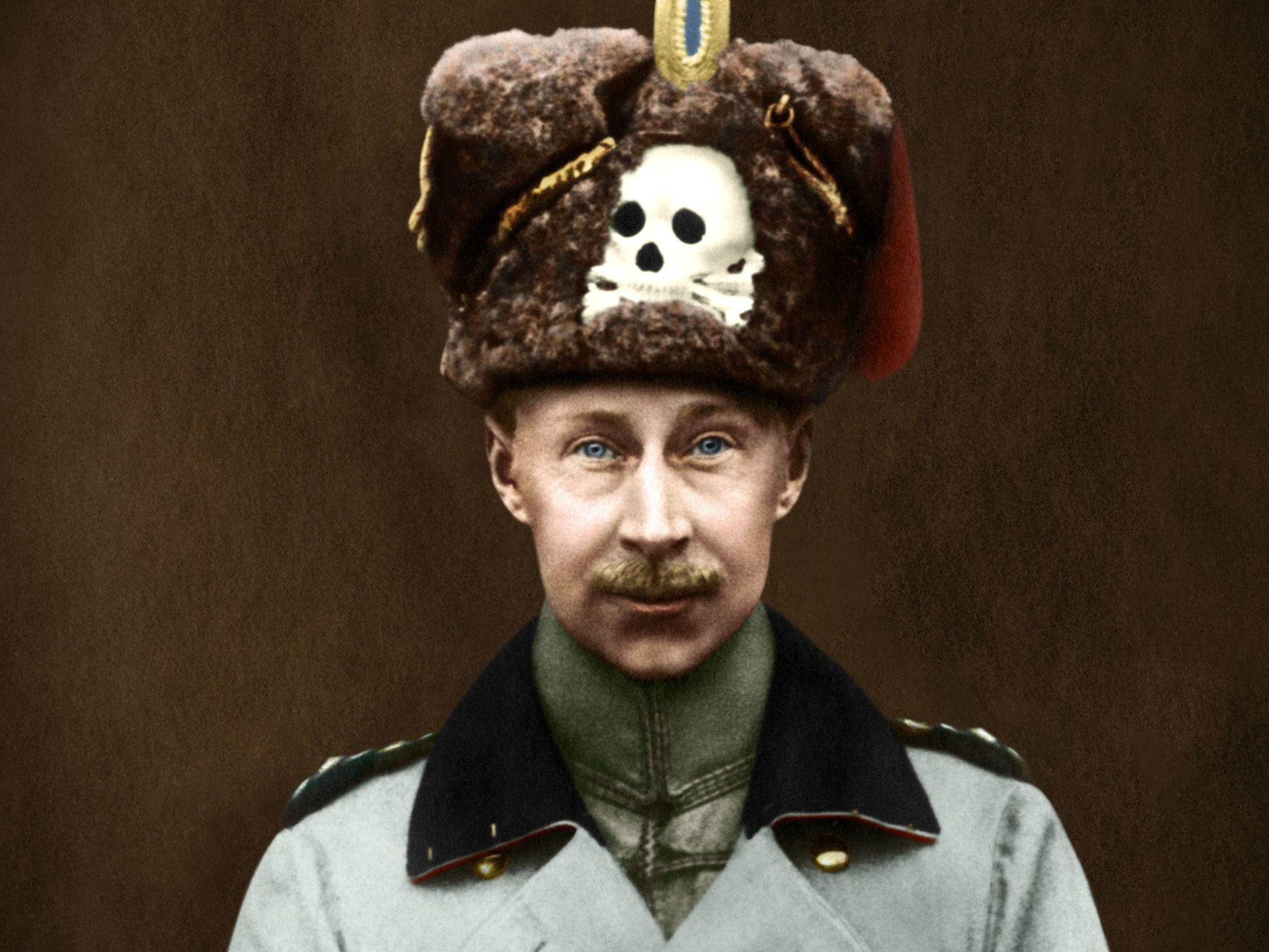 The Kronprinz (crown prince) Wilhelm of Prussia, with the skull and crossbones, the emblem of... [Photo of the day - دسامبر 2016]