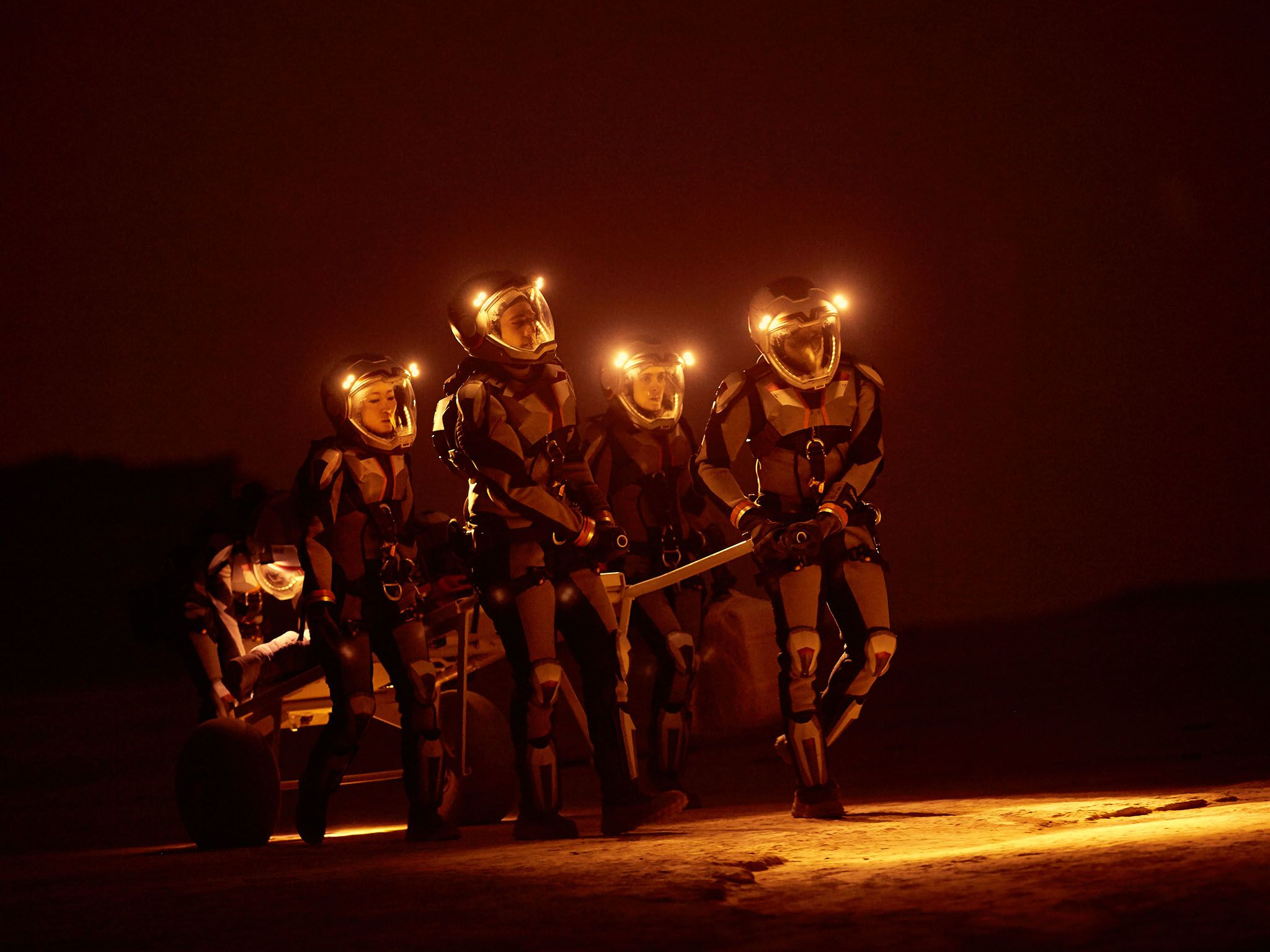 Reenactment: The crew on Mars. This image is from Mars. [Photo of the day - دسامبر 2016]