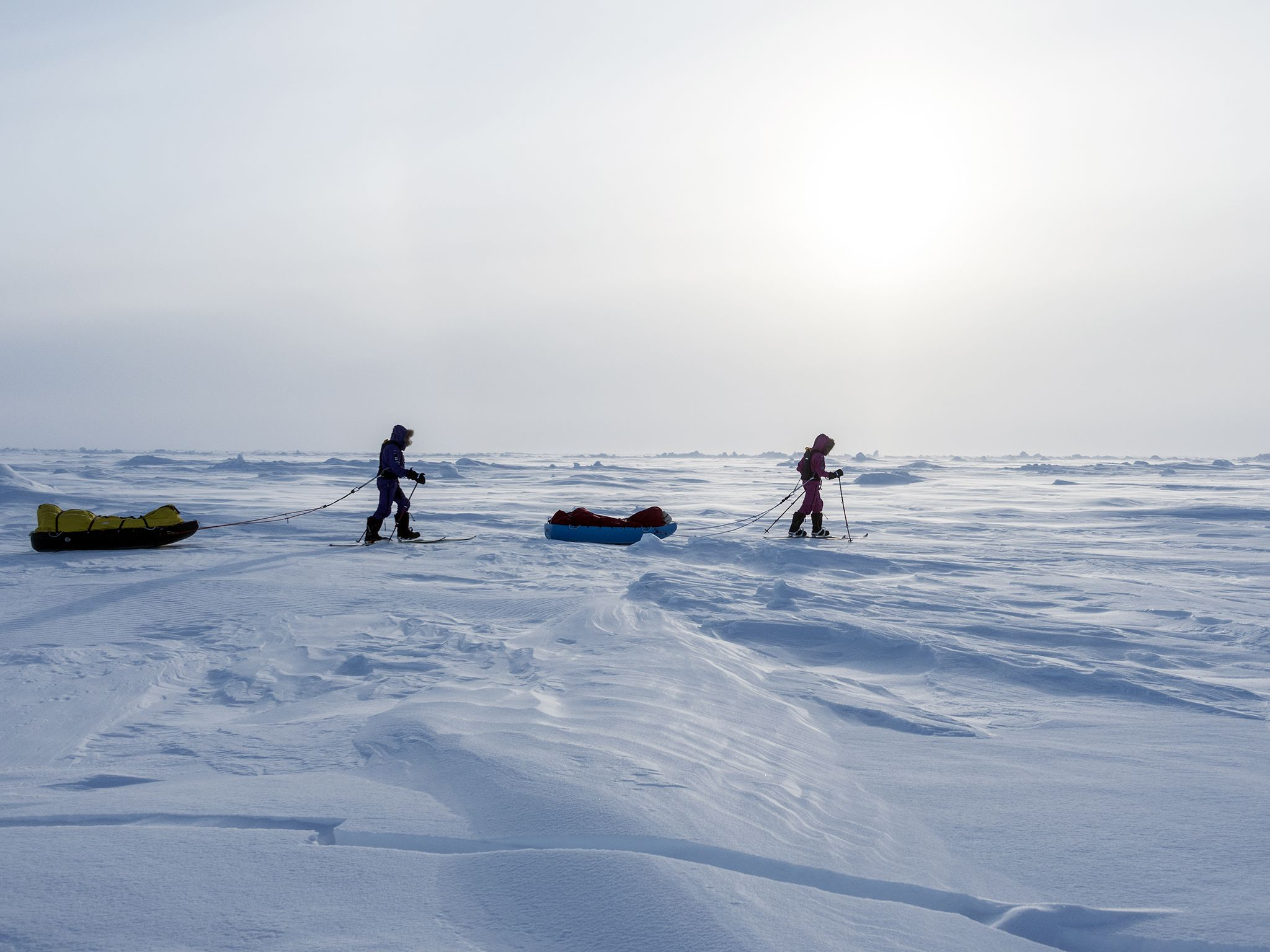 Arctic trek to North Pole: (Left to Right) Paul Hameister and Jade Hameister. This image is from... [Photo of the day - دسامبر 2016]