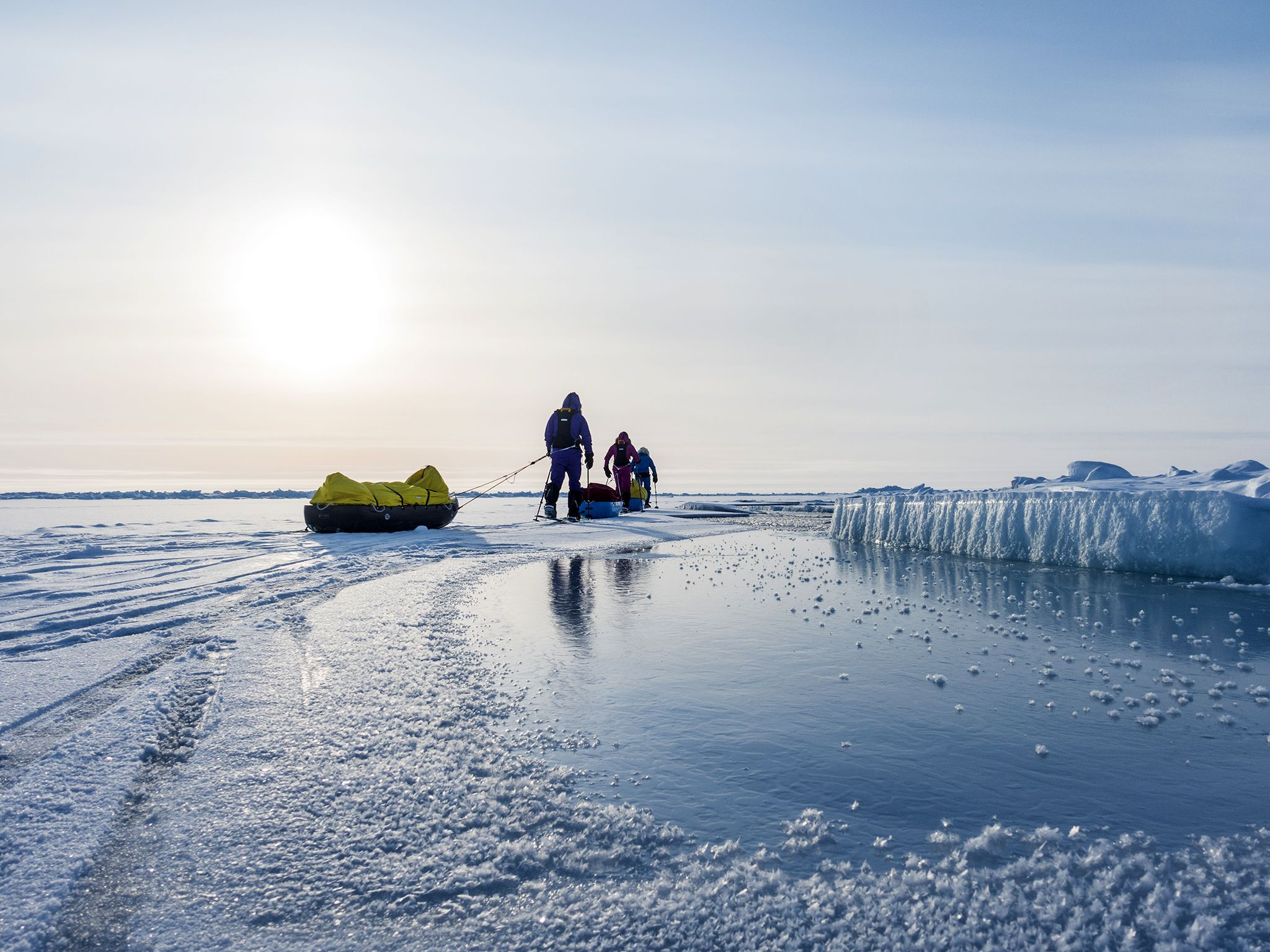 Arctic trek to North Pole: (Left to Right) Heading to the North Pole - Paul Hameister, Jade... [Photo of the day - December 2016]