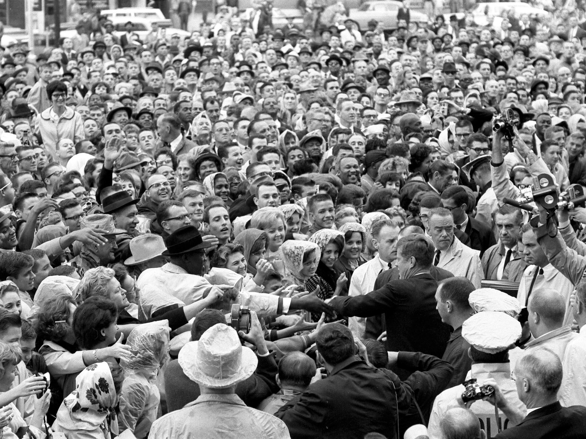 Love Field, Dallas, Texas: President Kennedy wades into a crowd of well-wishers and supporters... [Photo of the day - January 2017]