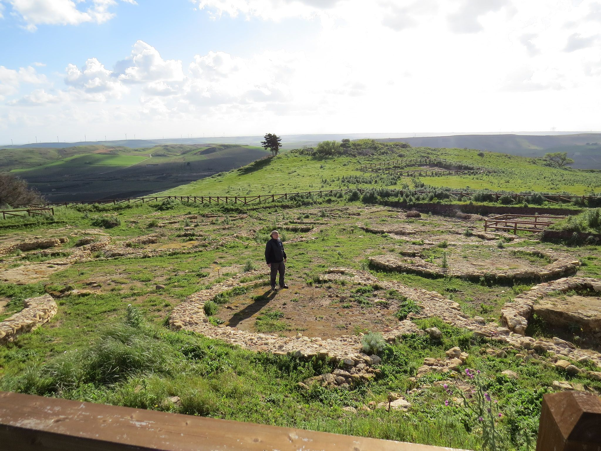 Sicily, Italy:  Simcha in the archaeological site of Mokarta. This image is from Atlantis Rising. [Photo of the day - March 2017]