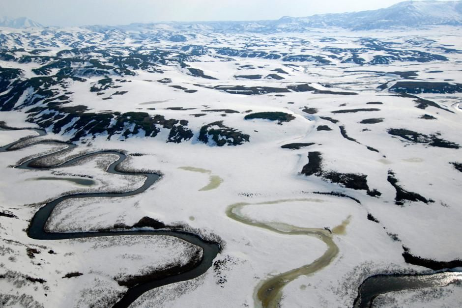 The peninsula of Kamchatka in Russia's Far East is a dramatic landscape where fire and ice meet. ... [Photo of the day - February 2012]