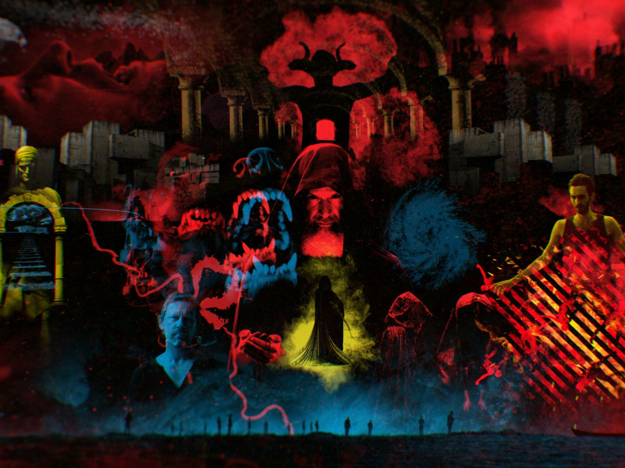 CGI: A grid of all torturous depictions of Hell. This image is from Map of Hell. [Photo of the day - March 2017]