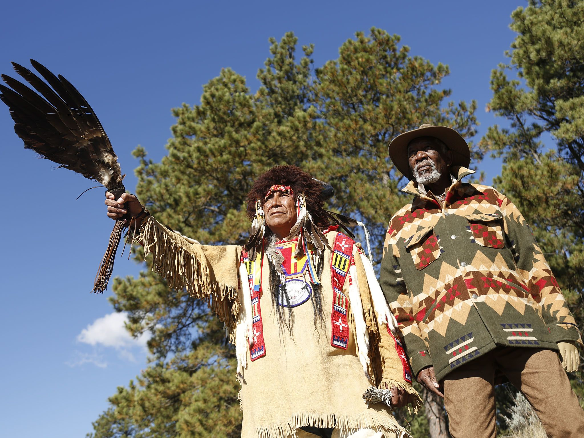 برج الشياطين، وايومنغ: مورغان فريمان ورئيس قبائل... [Photo of the day - أبريل 2017]