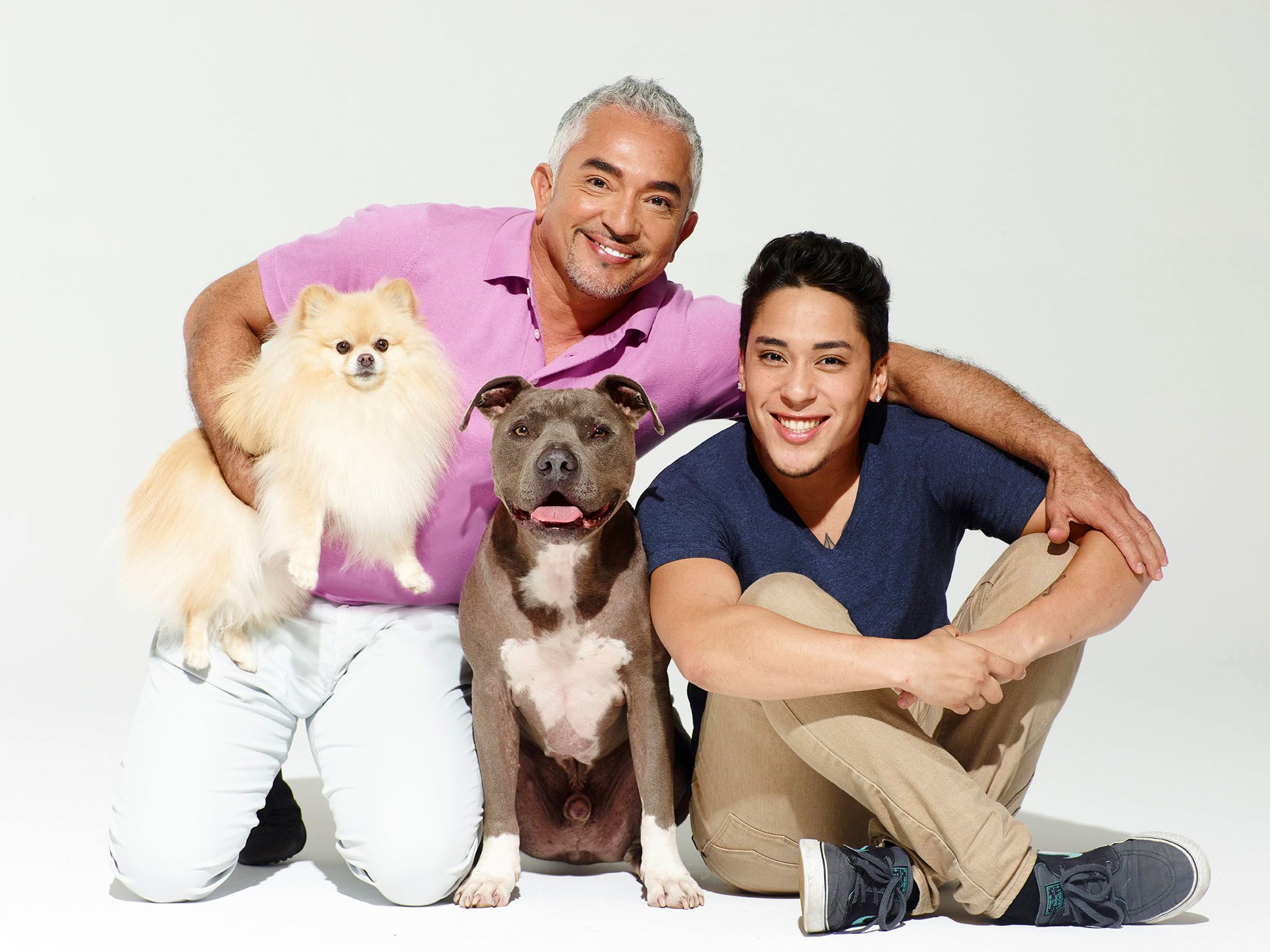 Cesar and Andre Millan. This image is from Cesar Millan's Dog Nation. [Photo of the day - May 2017]