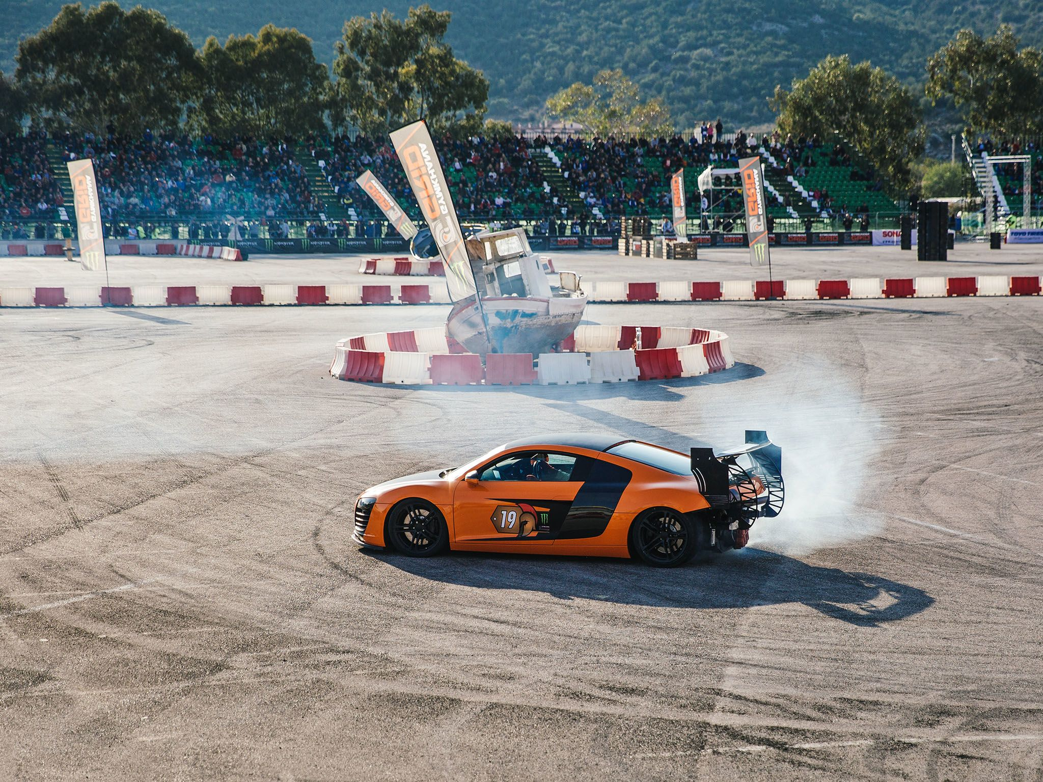 Marathonas, Greece: Audi on the track. This image is from Supercar Megabuild. [Photo of the day - May 2017]