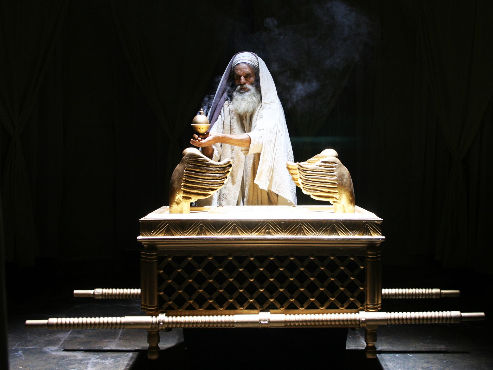 Dramatisation: High Priest burning incense inside the Holy of Holies in the Temple. This image... [Photo of the day - August 2017]