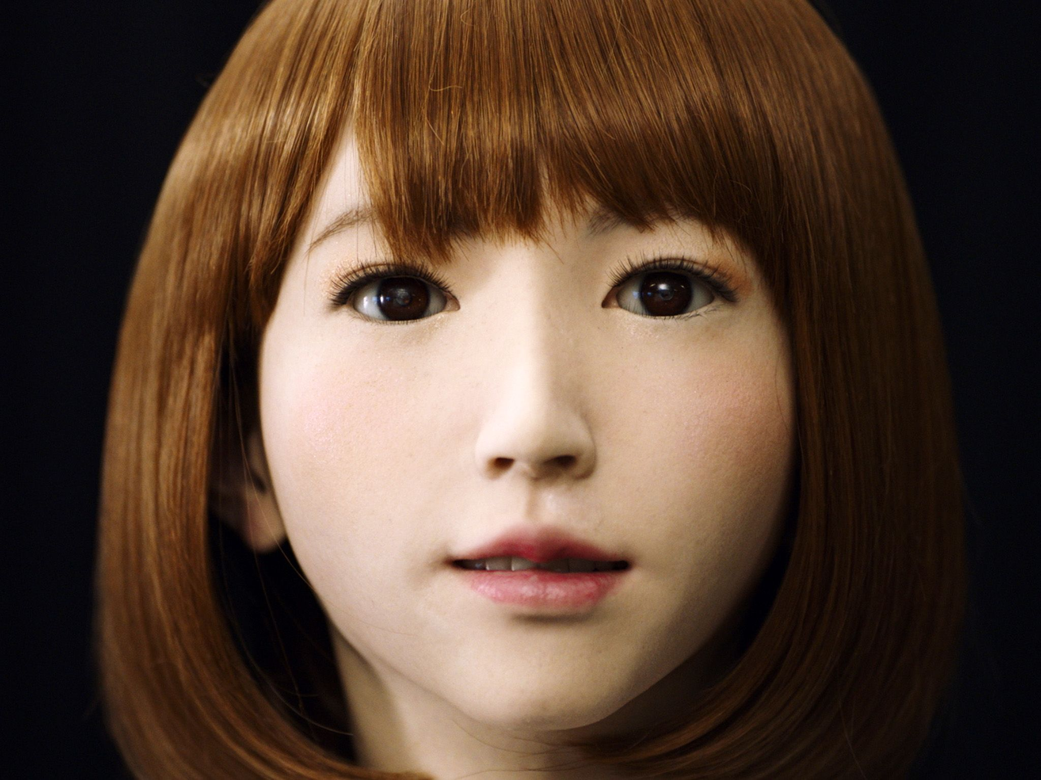 Kyoto, Japan: Close-up of ATR's lifelike AI creation, Erica at the Intelligence Robotics Lab.... [Photo of the day - 八月 2017]