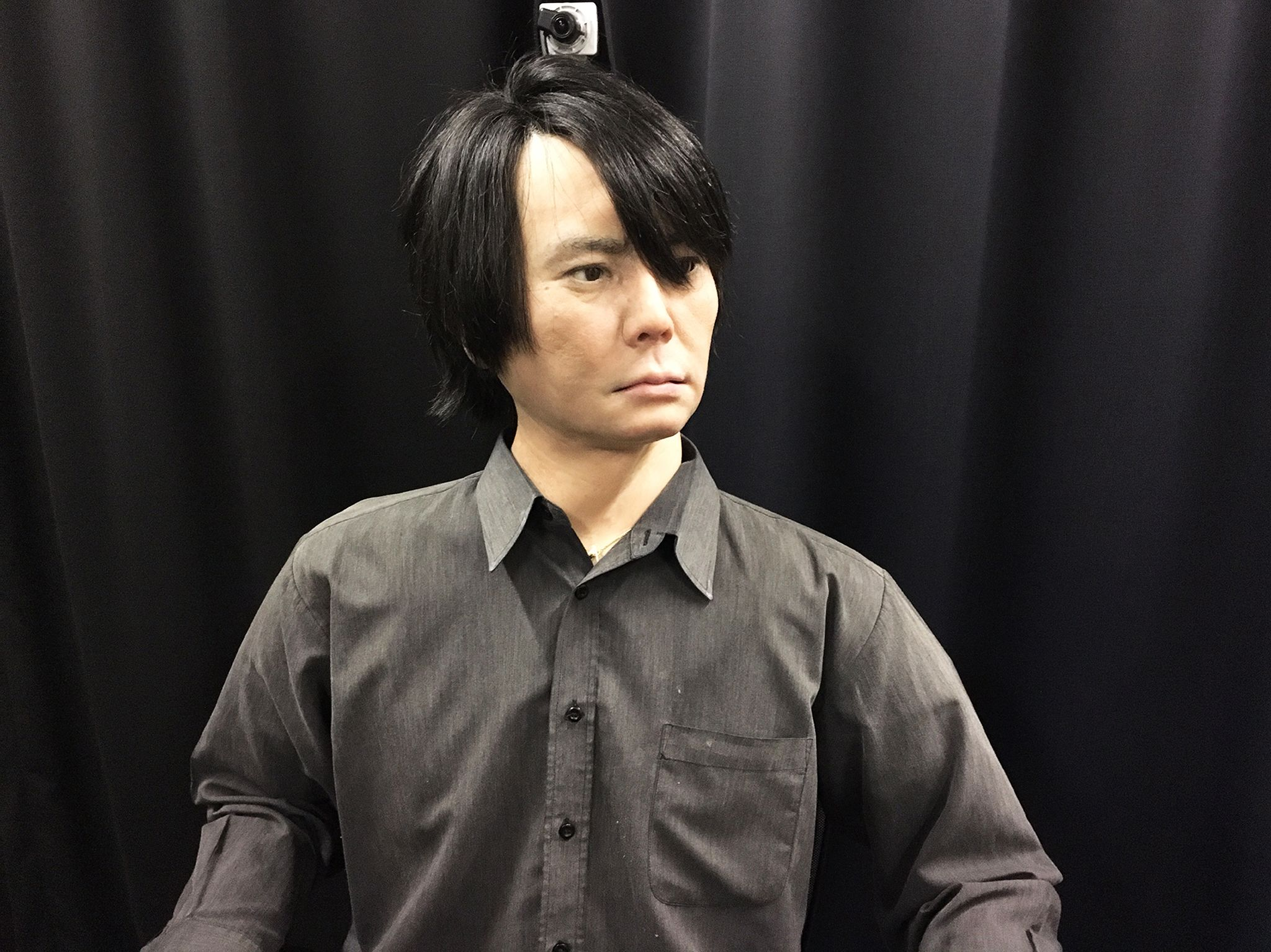 Kyoto, Japan:  Hiroshi Ishiguro's lifelike AI model of himself at the Intelligence Robotics Lab.... [Photo of the day - August 2017]