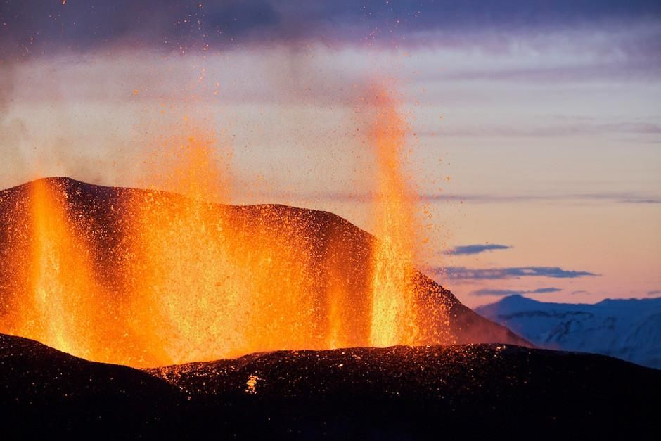 "Un volcan en Islande. Cette image est tirée de l'émission ""Nordic Wild"". [Photo of the day - mars 2012]"