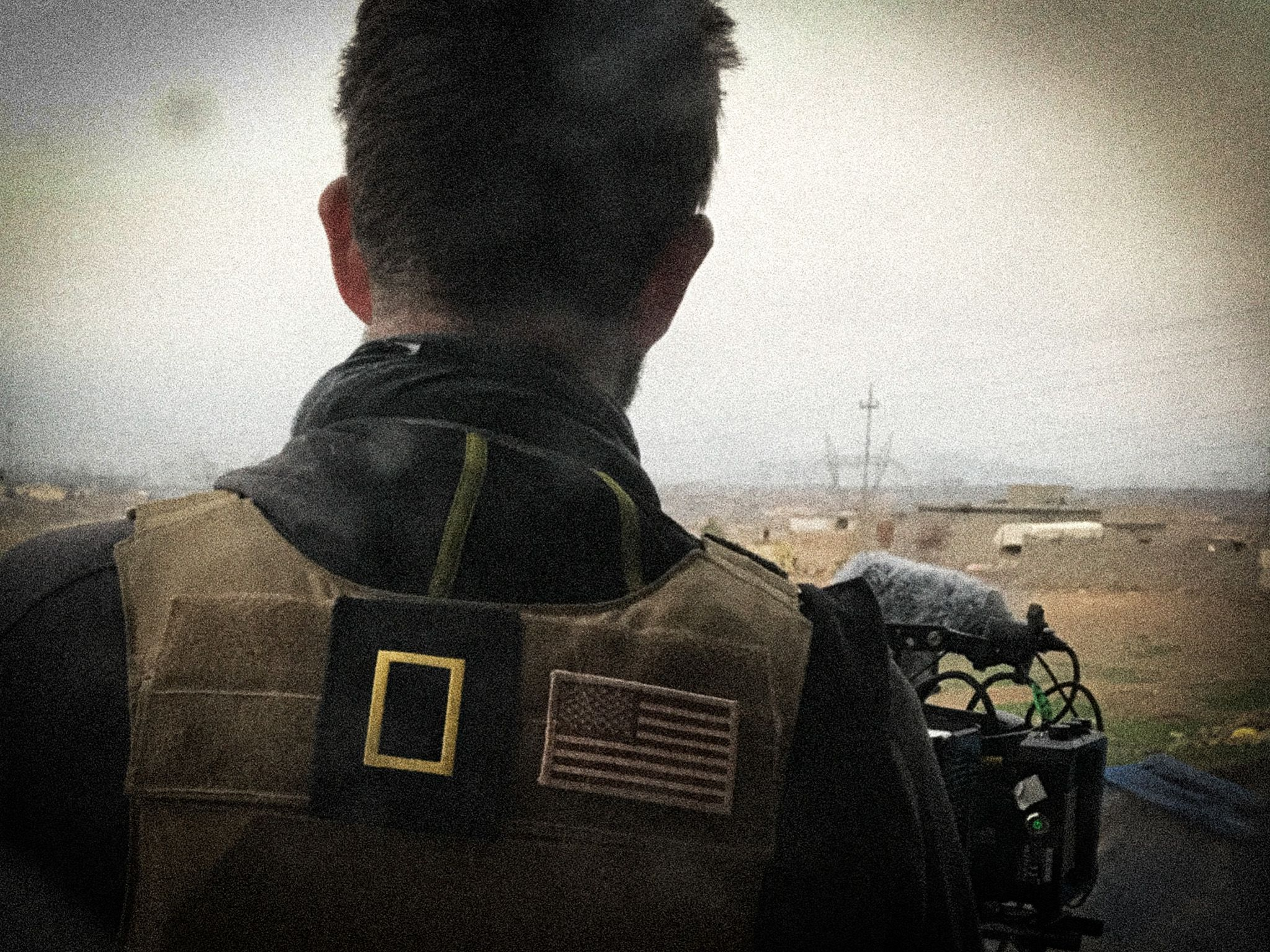 Mosul, Iraq:  Over the shoulder of a cameraman.  This image is from Chain of Command. [Photo of the day - February 2018]