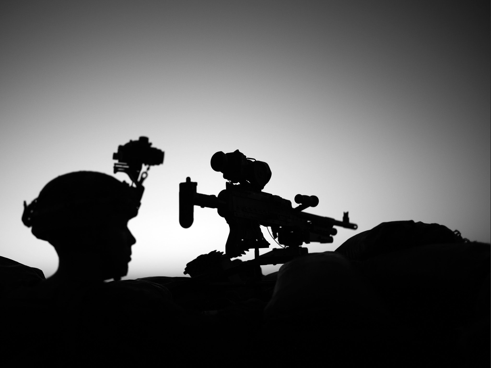 Afghanistan:  A Marine in silhouette.  This image is from Chain of Command. [Photo of the day - February 2018]