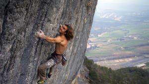 Klettern am Limit Foto