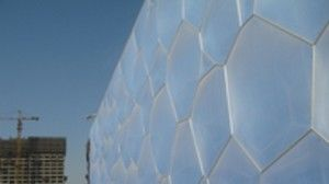 """Obras Incríveis: O """"Cubo Aquático"""" de Pequim fotografia"""