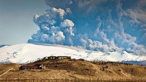 Vulkánkitörés Izlandon fotó