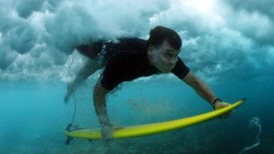 Debaixo de água fotografia