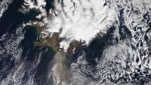Iceland Volcano Eruption show