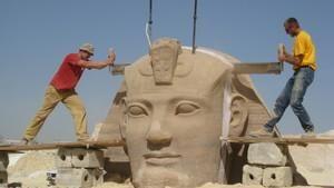 Gigantiske flyttelass: Det gamle Egypt flyttes Bilde