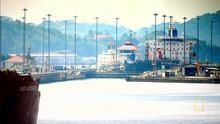 Panama Canal Locks show