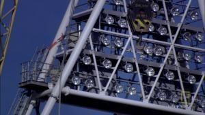 Olympische Spelen: Verlichting van het stadion Foto