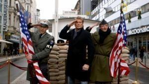 Il muro di Berlino con David Hasselhoff foto