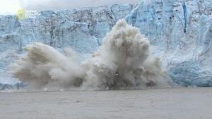 Dangereux face à face avec la glace photo