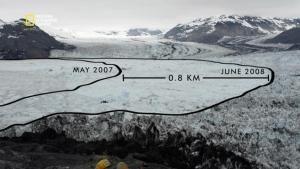 Ce glacier a reculé de 16km en 30 ans photo