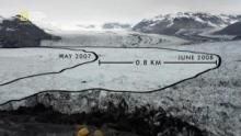 Ce glacier a reculé de 16km en 30 ans Voir la fiche programme